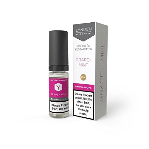 Lynden Grape + Mint Liquid-Fruchtige, weiße Trauben sind hier kombiniert mit frischer Minze -10ml fertiges E-Liquid/Base 70VG/30PG I 0mg NikotinI für E-Zigarette/E-Shisha