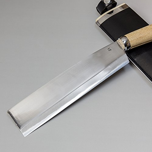 本場土佐火造り鉈最高級腰ナタ両刃白紙鋼210mm