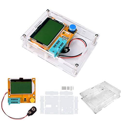 LCR-T4 Mega328 Digital Transistor Tester Resistance Capacitance Diode Triode Capacitance Resistance ESR Meter MOS PNP NPN LCR with Case