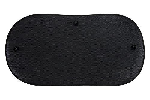 BC Corona INT40117 1 Parasol Trasero Triple Capa de 100X50 Color Negro con ventosas y Universal, 100x50 cm