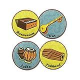 klaynkrafts Tea Coasters - Music Theme 1- Set of 4