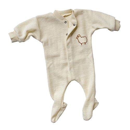 Engel Naturtextilien Frühchen Kleidung - Bio / Öko Baby Schlafanzug Schurwoll Frottee Gr. 56