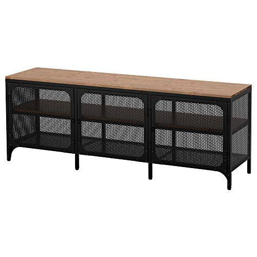 Ikea FJÄLLBO - Mueble para TV, color negro