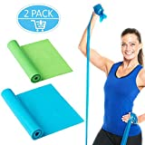 <span class='highlight'><span class='highlight'>Omew</span></span> Fitness Bands Pack of 2 1.5 m Length Elastic Exercise Band Exercise Bands Ideal for Muscle Building