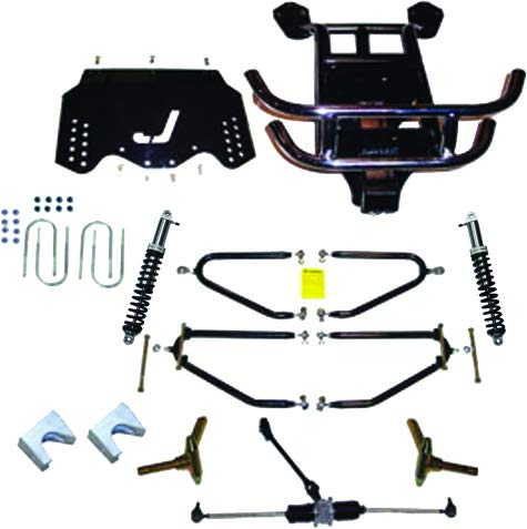 EZGO TXT/Valor (2009-Up Gas w/Single Cylinder Kawasaki Engine) Golf Cart Long Travel Lift Kit