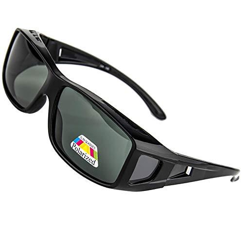 SHEEN KELLY Conducción Gafas de Sol Polarizadas Rectangular Fit Over Glasses con Protector Lateral Lente de Conducción Protección de Abrigo
