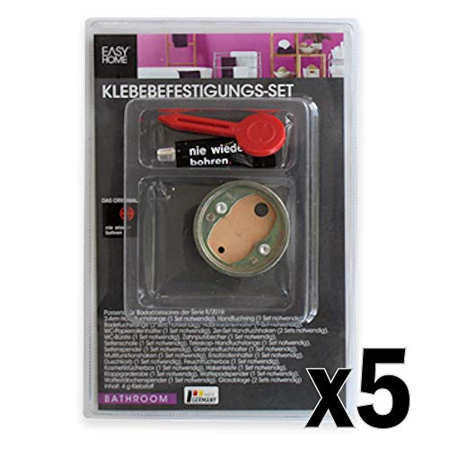 Easy Home® Klebebefestigung 5er-Set