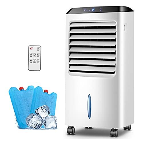 NYDCTHOM Aire Acondicionado, 3 en 1 Móvil Climatizador Evaporativo Ventilador Humidificador Purificador, con Ruedas y Tanque de Agua 10L, 3 Velocidades, 8HTemporizador, Mando a Distancia(Negro)