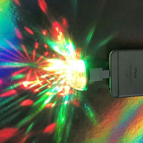 Mini Usb Disco Ball Light, Light Color Strobe Rgb Magic Ball Light For Birthday Party Karaoke Decorations, Suitable For Usb Devices (3pcs)