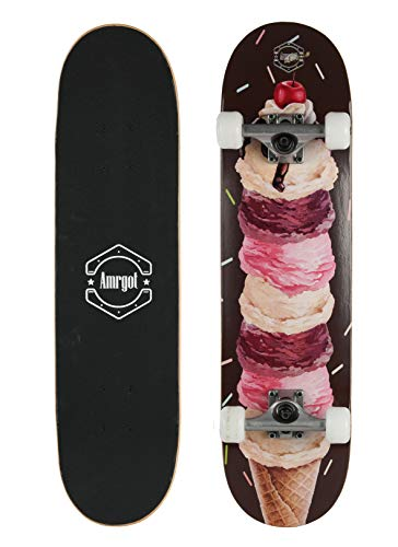 Amrgot Skateboards Pro 31 inches Complete Skateboards for Teens Beginners GirlsBoysKidsAdults 5