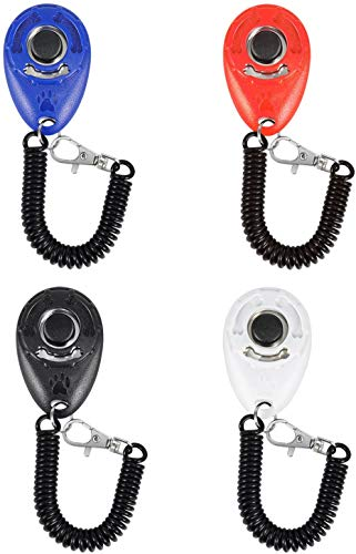 Golden Apple 4-Pack Dog Training Clicker with Wrist Strap for Pet, Puppy, Cat