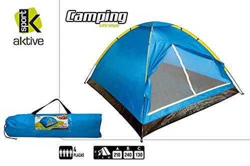 Aktive 52551 Dome Tente 4 Personnes 210 x 240 x 130 cm