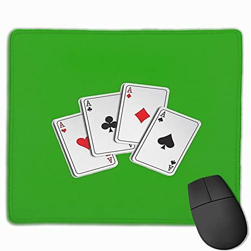 Poker of Aces genähte Kante Laptop Gaming Mauspad Computer Mousepad