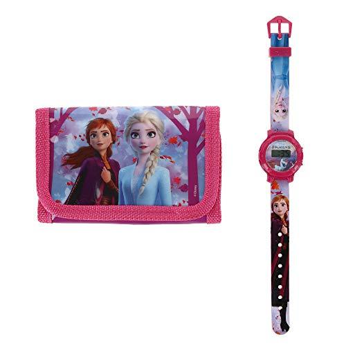 Die Eiskönigin II Digitaluhr und dreifach gefaltete Brieftasche.