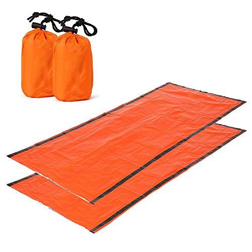 5 15 °C 190x75cm Sac de couchage enfant adulte 2 personnes interieur coton pour camping voyage, Drap de couchage camping orange