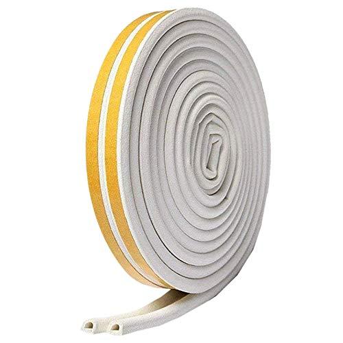 隙間テープ ホワイト 5m ドア すきま風防止 防音パッキン 引き戸 窓 扉 玄関用すきま 虫塵すき間侵入防止 シール テープ