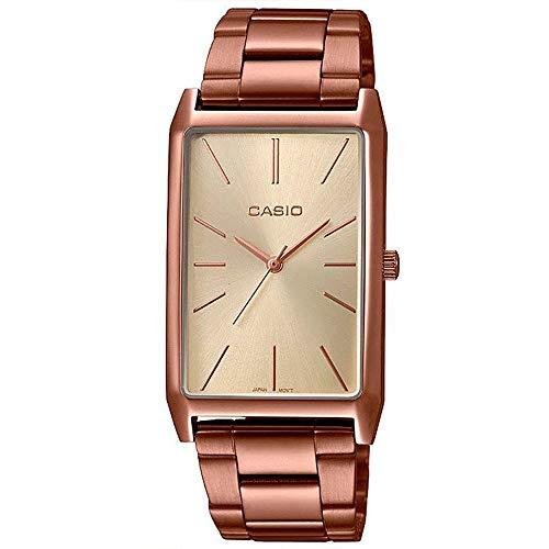 Casio Ltp-e156r-9adf Reloj Analógico para Mujer Caja De Acero Inoxidable Esfera Color Gold