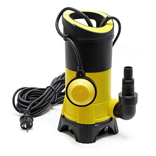 Schmutzwasserpumpe 7.500l/h, 400W, max. Förderhöhe 5m, Fremdkörper bis Ø35mm