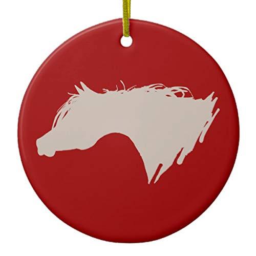 Lplpol - Adorno de Porcelana para árbol de Navidad, diseño de Cabeza de Caballo árabe