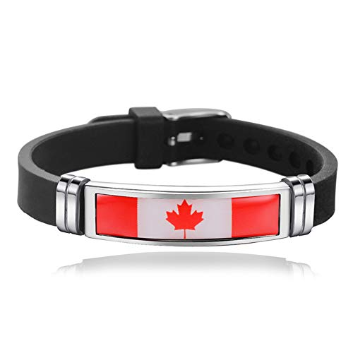 Armband im Nationalflaggen-Stil, kreatives Kanada-Reise-Souvenir, Geschenk, gewebtes Sport-Silikon-Armband, Zubehör für Damen und Herren