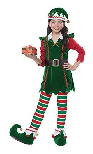 California Costumes Girls Festive Elf Child Costume