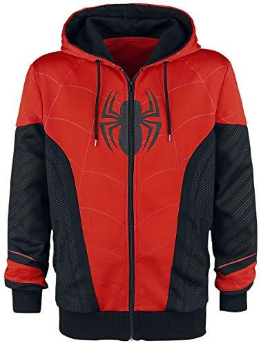 Spider-Man Red & Black Hombre Chándal Negro/Rojo L