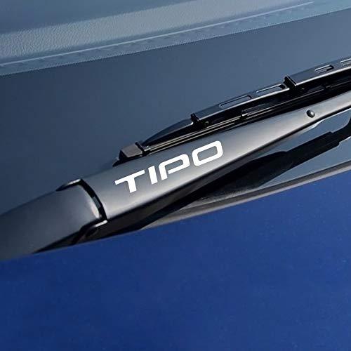 BLOUR 4PCS Auto Aufkleber und Abziehbilder Persönlichkeit Auto Fensterwischer Aufkleber Auto reflektierende Abziehbilder für FIAT Tipo Auto Dekor Zubehör