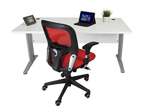 Mesa de Oficina. Euro 3000. Color Blanco. 140x80 cm. Patas en T de Metal.