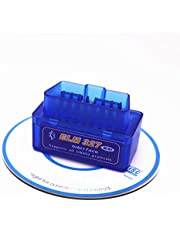 KAKAPI Ultra Mini Bluetooth OBD2, OBD2 codelezer EOBD Scanner Automotive Diagnostic Scan Tool Check Motor Licht Code Reader voor Android