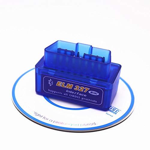 COSEAN Mini Bluetooth OBD2 Scanner, Auto diagnosegerät OBD II Code Scanner Das nur mit Android, Lesen und Löschen Fehlercode und Batterie Test