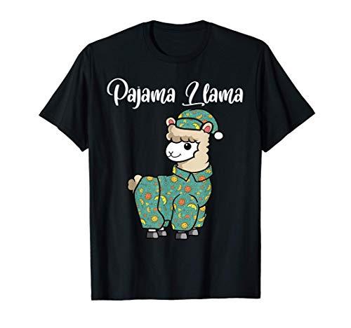 Lustiges Lama Pyjama Schlafenszeit Lama Pyjama Alpaka T-Shirt