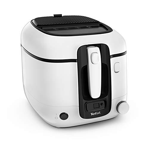 Tefal FR3140 Super Uno Friteuse avec minuteur Capacité 2,2 l Pièces adaptées au lave-vaisselle Revêtement anti-adhésif Filtre anti-odeurs Protection anti-éclaboussures Réservoir amovible Blanc/noir