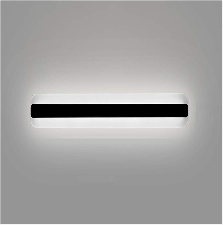 &Spiegelleuchte Spiegel Frontleuchte Moderne minimalistische LED Acryl Schlafzimmer Badezimmer Wandleuchte (Farbe   Weies Licht-14W 40CM)
