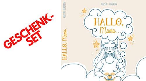 Hallo Mama Het geschenk set - boek bij het zwaaien | Ideaal voor elke babyparty | Als passend geschenk voor de zwangerschap of babyshower | Incl. passende kaart van Herzwärts Seelenpoesie