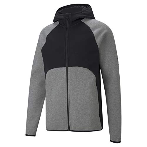 PUMA Jacket Chaqueta Dime, Medium Gray Heather Black, XL para Hombre