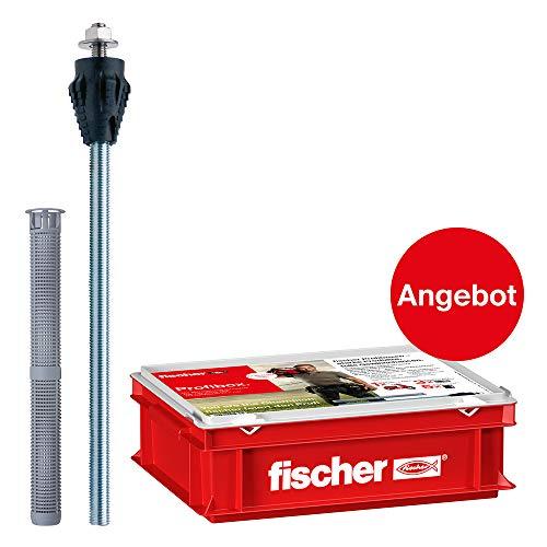 fischer 91970 Thermax 16/170 M12-Abstandsmontagesystem zur Befestigung Schwerer Lasten wie Markisen,Vordächern in Wärmedämmverbundsystemen, 25 Stück. (inkl. 1 Handwerkerkoffer), grau