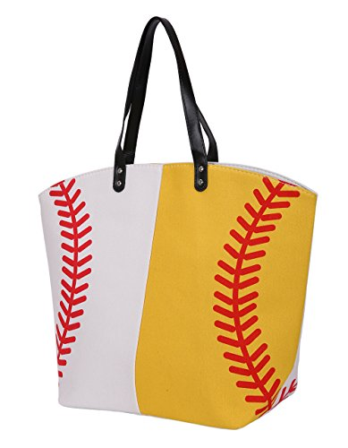 E-FirstFeeling Large Baseball Tote Bag Sports Prints Utility Tote Beach Bag Travel Bag Sport Tote-Football
