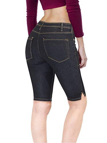 Women's Stretchy Denim Bermuda Short B22880 Indigo 15