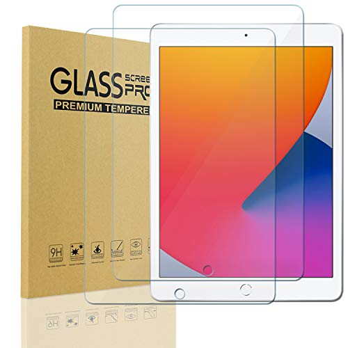 [2 Pack] KIQ iPad 9.7 2018 6th Gen Tempered Glass Screen Protector, 9H Hard Tough 0.30mm Bubble-Free Anti-Scratch Self-Adhere Easy-to-install Clear Invisible for Apple iPad 9.7 2018 (6th Generation)