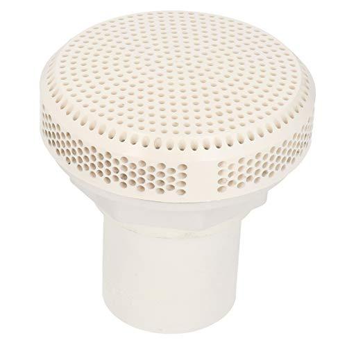 Jingyig Salida de Drenaje para Piscinas, Resistente a Altas temperaturas, con un diámetro de Boca de 2 Pulgadas, Drenaje para Piscinas, Accesorio de Drenaje de PVC para Piscinas, bañeras, Piscinas