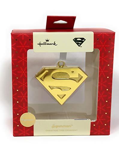 Hallmark Premium DC Comics Superman Shield Christmas Tree Ornament