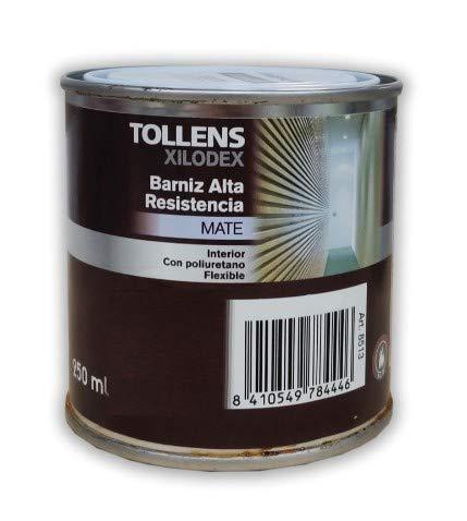 TOLLENS - BARNIZ ALTA RESISTENCIA MATE INTERIOR 250 ML - Iroko de Tanzania 513