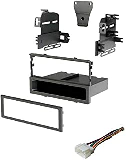 Car Stereo Dash Install Mount Kit and Wire Harness for Installing an Aftermarket Single Din Radio for Select 1998-2006 Honda Vehicles - See Compatible Vehicles and Years Listed Below