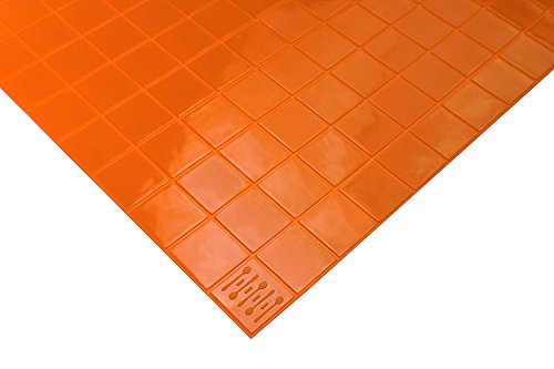 KMN Home DrawerDecor Drawer Liner Basemat, Non-Slip Easy-Clean Shelf Liner, Orange - 14 inches by 20 inches