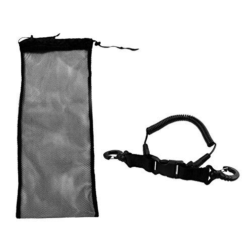 Netztasche/Mesh Bag + Erwachsene Tauchen Spiralkabel Tauchen Schnorcheln Schwimmen Zubehör