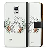 Étui Compatible avec Samsung Galaxy Note 4 Étui Folio Étui magnétique Disney Winnie l'ourson...