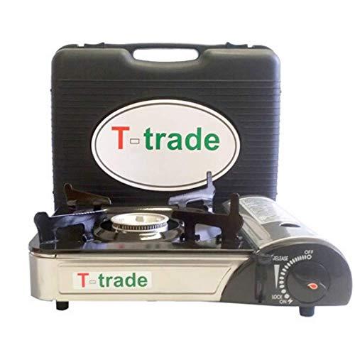 T-TRADE Fornello da Campeggio Portatile a Gas PGS DC