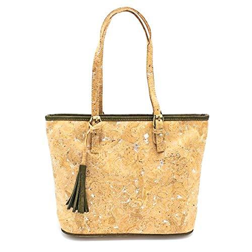 Bolso de mano de corcho natural de alta calidad para mujer, vegano, Eco, natural Hanbags. Bolsa 222 E