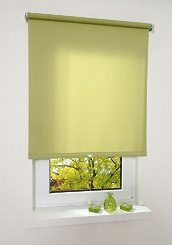 Liedeco® Rollo, Spring-, Schnapprollo / 112 x 180 cm (Breite x Höhe), blattgrün/lichtdurchlässig, Blickdicht/viele Farben, Größen und Typen/Breiten 60-200 cm/Variable Montage möglich