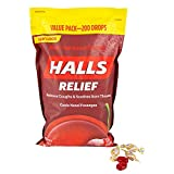 Halls Cough Suppressant/Oral Anesthetic Cough Drops - Cherry (200 Count)